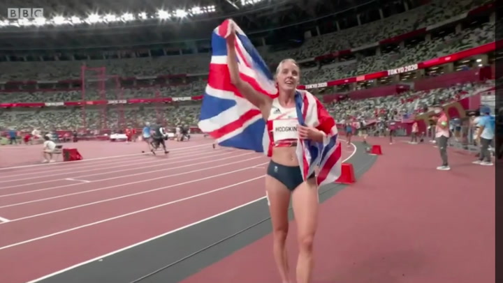 Keely Hodgkinson: Stunned athlete says 'What the f***' after winning silver medal