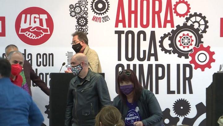 Siete ministros se manifiestan en Madrid por el Día del Trabajador