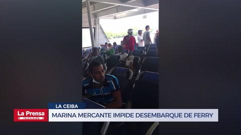 Marina Mercante de La Ceiba impide desembarque de ferry proveniente de Roatán