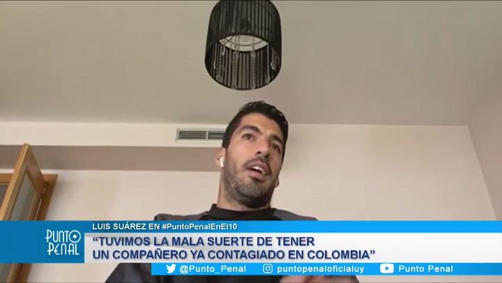 Luis Suárez pide disculpas por el Covid-19 en Uruguay