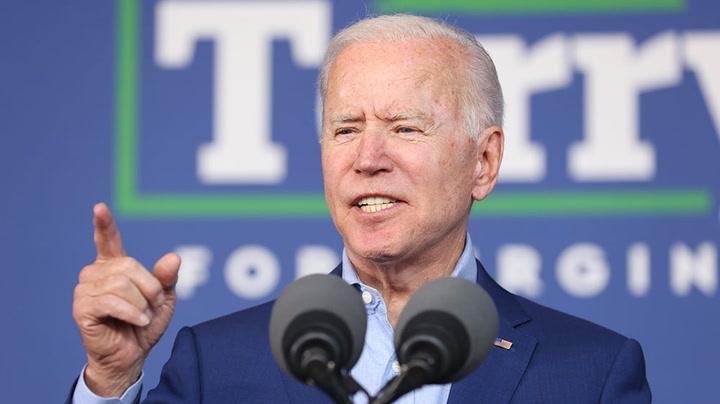 Watch live as Biden campaigns for Virginia gubernatorial candidate