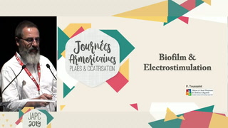 Effet anti-biofilm de l'électrostimulation