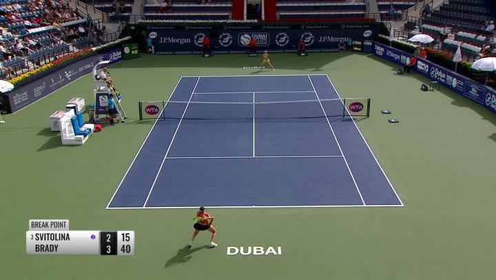 Jennifer Brady Beats Third Seed Elina Svitolina 6-2 6-1 In Opening Round In Dubai
