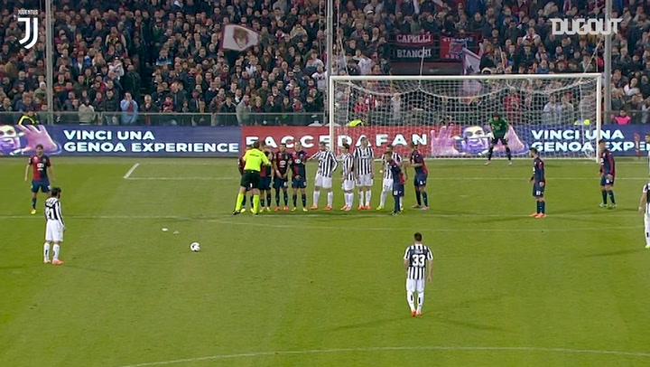 Golaço de falta de Pirlo contra o Genoa em 2014