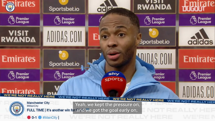 Sterling: We kept our composure and grinded the result out
