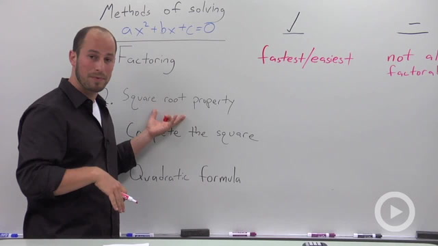 Overview of the Different Methods of Solving a Quadratic Equation