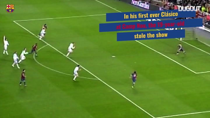 Lionel Messi's first hat-trick in El Clásico