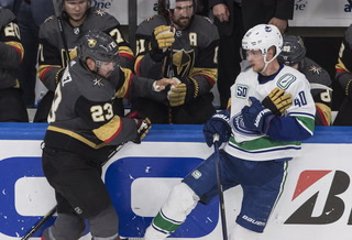 Golden Knights on game two against the Canucks