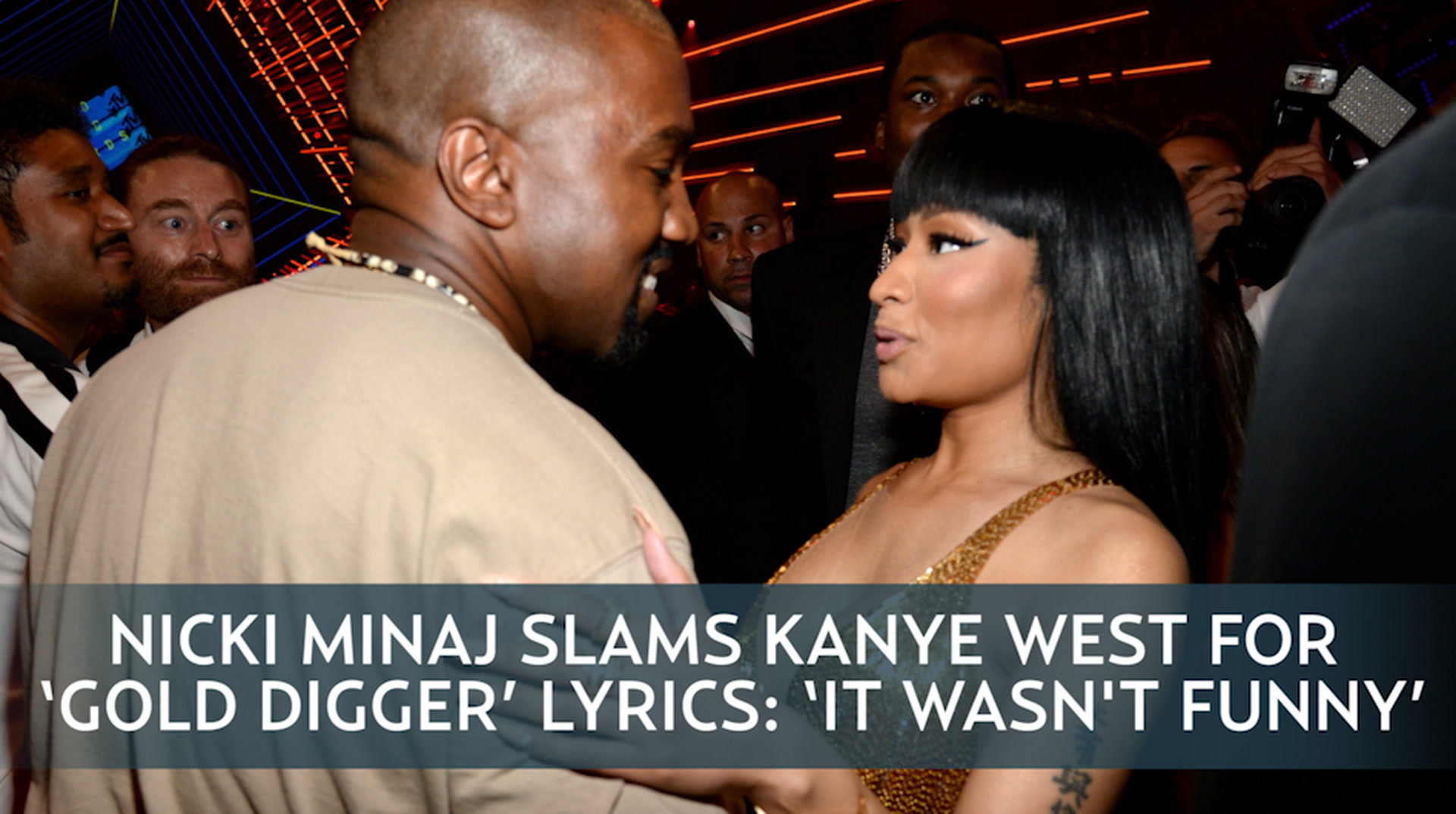 Nicki Minaj I Wasnt Slamming Kanye Wests Gold Digger Lyrics