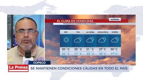 Se mantienen condiciones cálidas en todo el país
