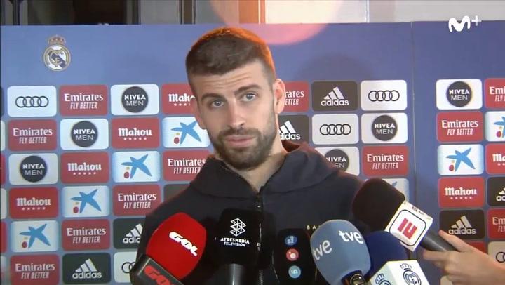 Piqué crítico con el Madrid y Ramos le replica