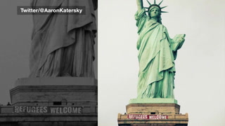 Search begins for Statue of Liberty banner hangers, but leads are scarce