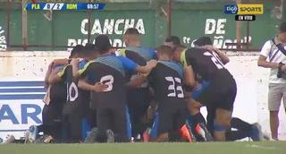 ¡Gol de Real de Minas! Juan Ramón Mejía hace el 2-0 ante Platense