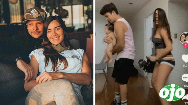 Korina Rivadeneira y Mario Hart vuelven al Tik Tok pero con su bebita y hacen coreografía | VIDEO