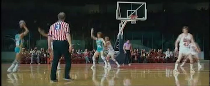 Scene from the film; 'Jackie scores'