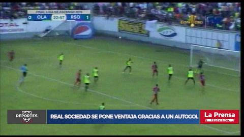 Video: Real Sociedad se pone ventaja gracias a un autogol en la final de la Liga de Ascenso