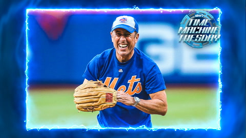 Mets fan Jerry Seinfeld throws a perfect pitch at Citi Field