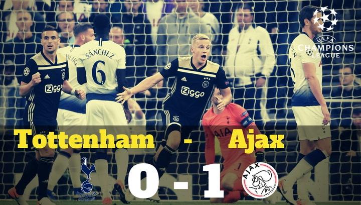 Champions League: Resumen del Tottenham-Ajax (0-1)