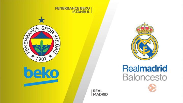 Euroliga: Fenerbahce Beko Istanbul - Real Madrid