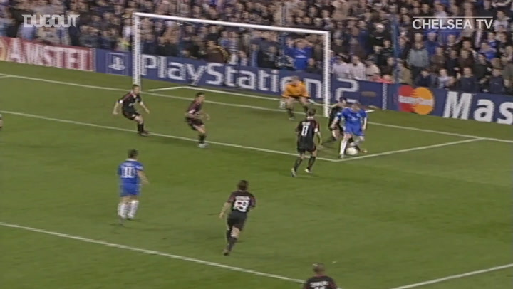 Frank Lampard's chest and volley finish vs Bayern Munich