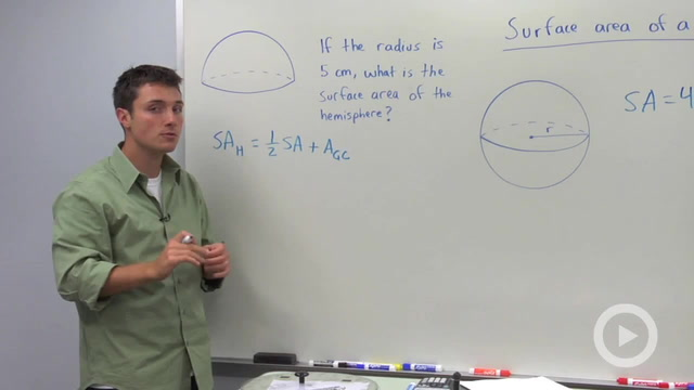 Surface Area of Spheres - Problem 1