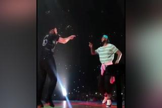 Lebron James se unió en el escenario con el cantante Drake en el Straples Center