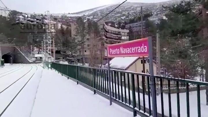 Una nevada histórica podría llegar a colapsar la ciudad de Madrid