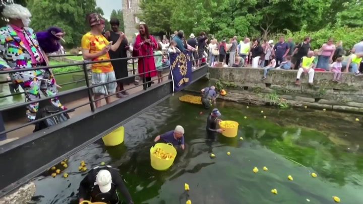 Quacking fun: Crowds enjoy Canterbury's annual rubber duck race