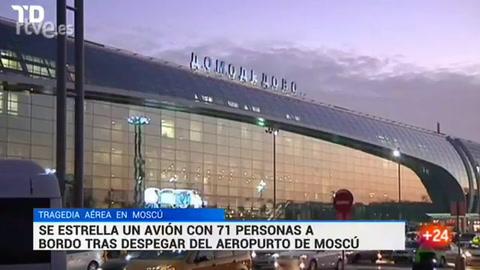 Se estrelló un avión con 71 personas a bordo cerca de Moscú