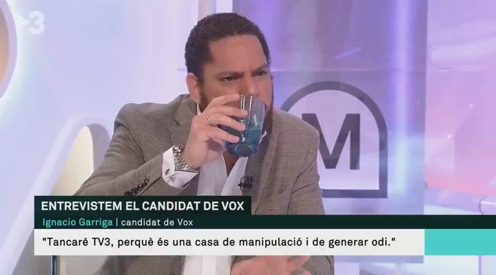 El momento 'tierra trágame' del candidato de Vox a las elecciones catalanas