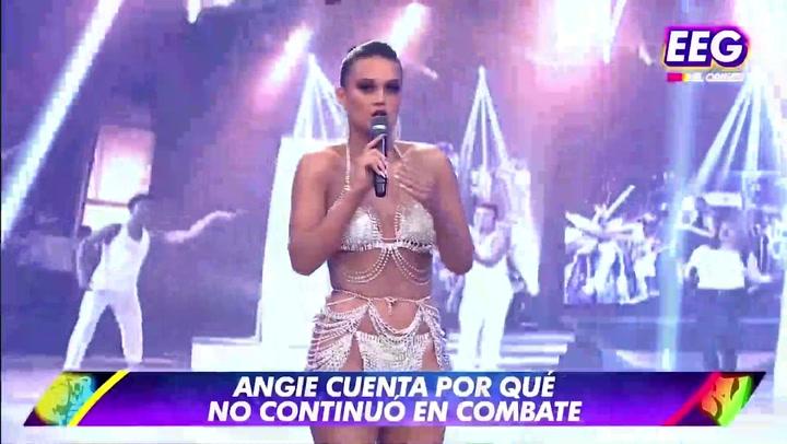 En su regreso a Esto es Guerra, Angie Arizaga reveló porque la sacaron de Combate | VIDEO