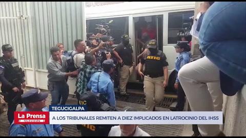 A los trIbunales remiten a diez implicados en latrocinio del IHSS