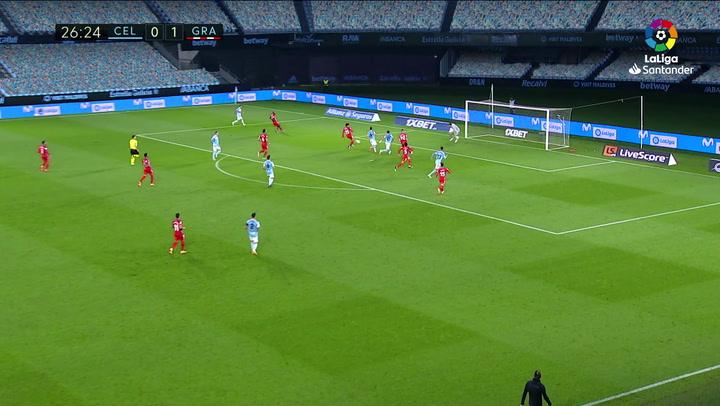 Gol de Nolito (1-1) en el Celta 3-1 Granada