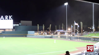 Wind Picks Up At Las Vegas Ballpark On Opening Day – Video