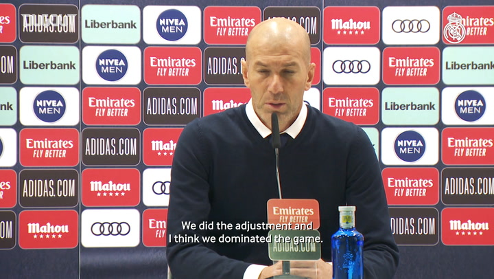 Zinedine Zidane: 'We dominated and deserved a lot more'