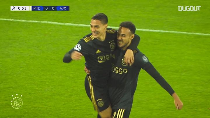 Ajax's Champions League goals in 2020-21 so far