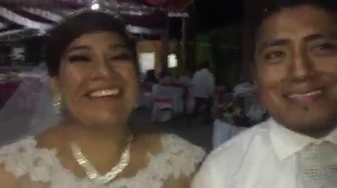 Un motociclista salvó a una novia en el día más feliz de su vida
