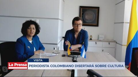 Periodista colombiano disertará sobre cultura