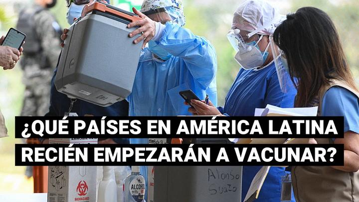 ¿Qué países de América Latina han demorado en recibir las primeras dosis de la vacuna contra el COVID-19?