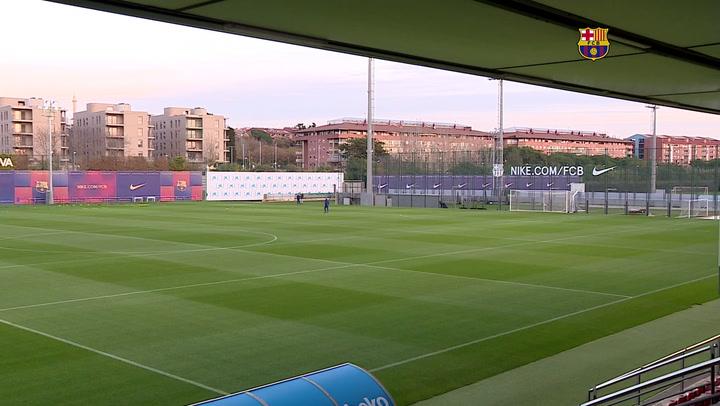 El Barça se ejercita de cara al encuentro de Liga ante el Valladolid