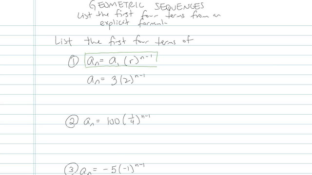 Geometric Sequences - Problem 3