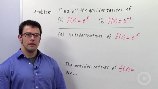 Antidifferentiation - Problem 3