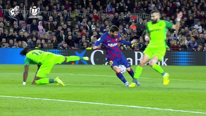 Barça-Leganés. Gol de Messi (3-0)