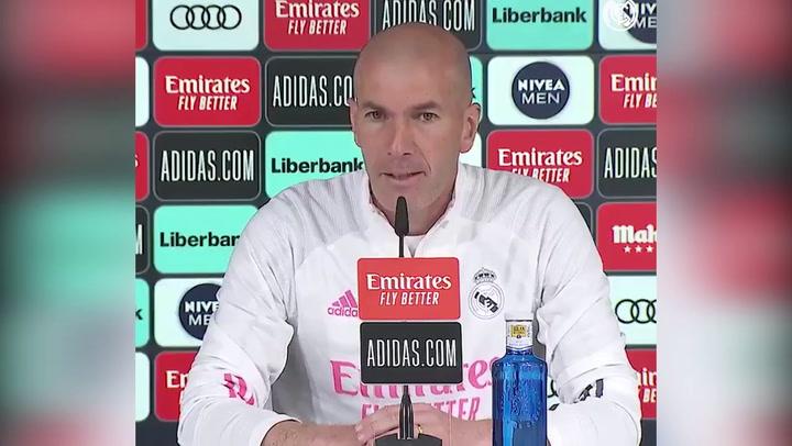 Zidane en rueda de prensa previa al partido ante la Real Sociedad