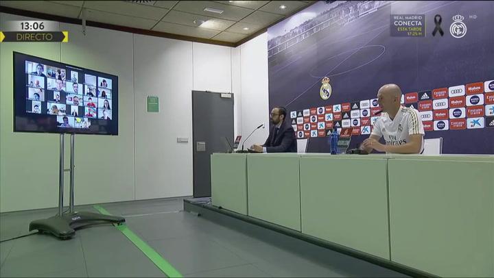 Zidane comparece en la rueda de prensa previa al partido frente al Mallorca
