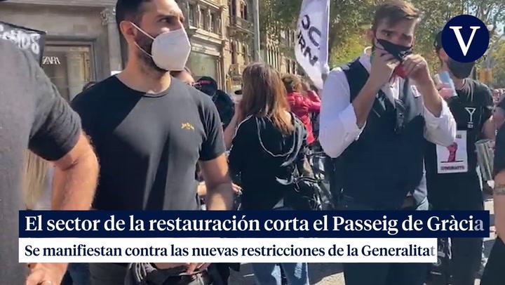 El sector de la restauración corta el Passeig de Gràcia