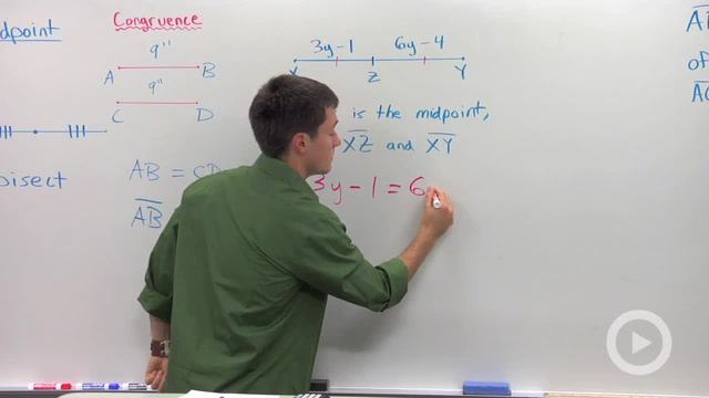Midpoints and Congruent Segments - Problem 1