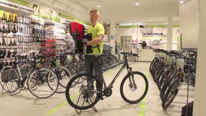 Hvordan montere barnesete på sykkel