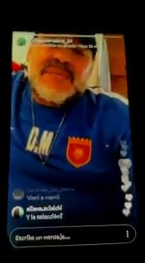 Maradona se confesó leproso en Instagram Stories
