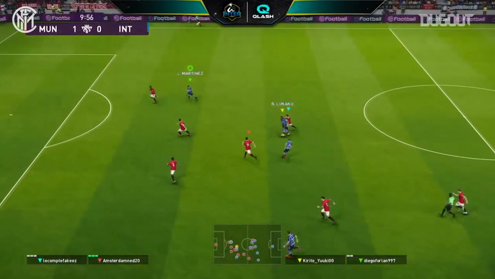 Inter Qlash face off vs Manchester United Esports in the 2020 PES Friendly Cup
